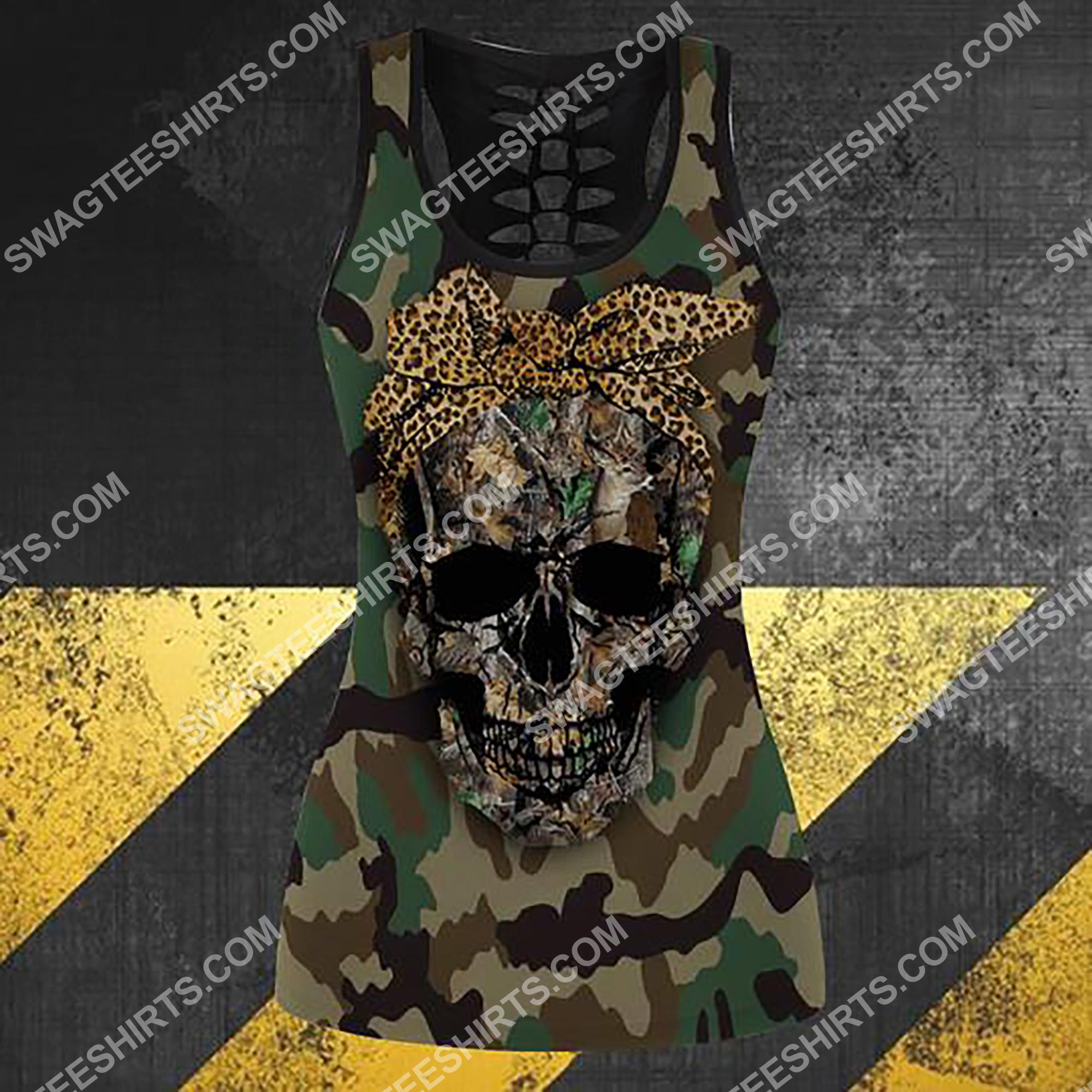 leopard skull full printing hollow tank top 4(1)