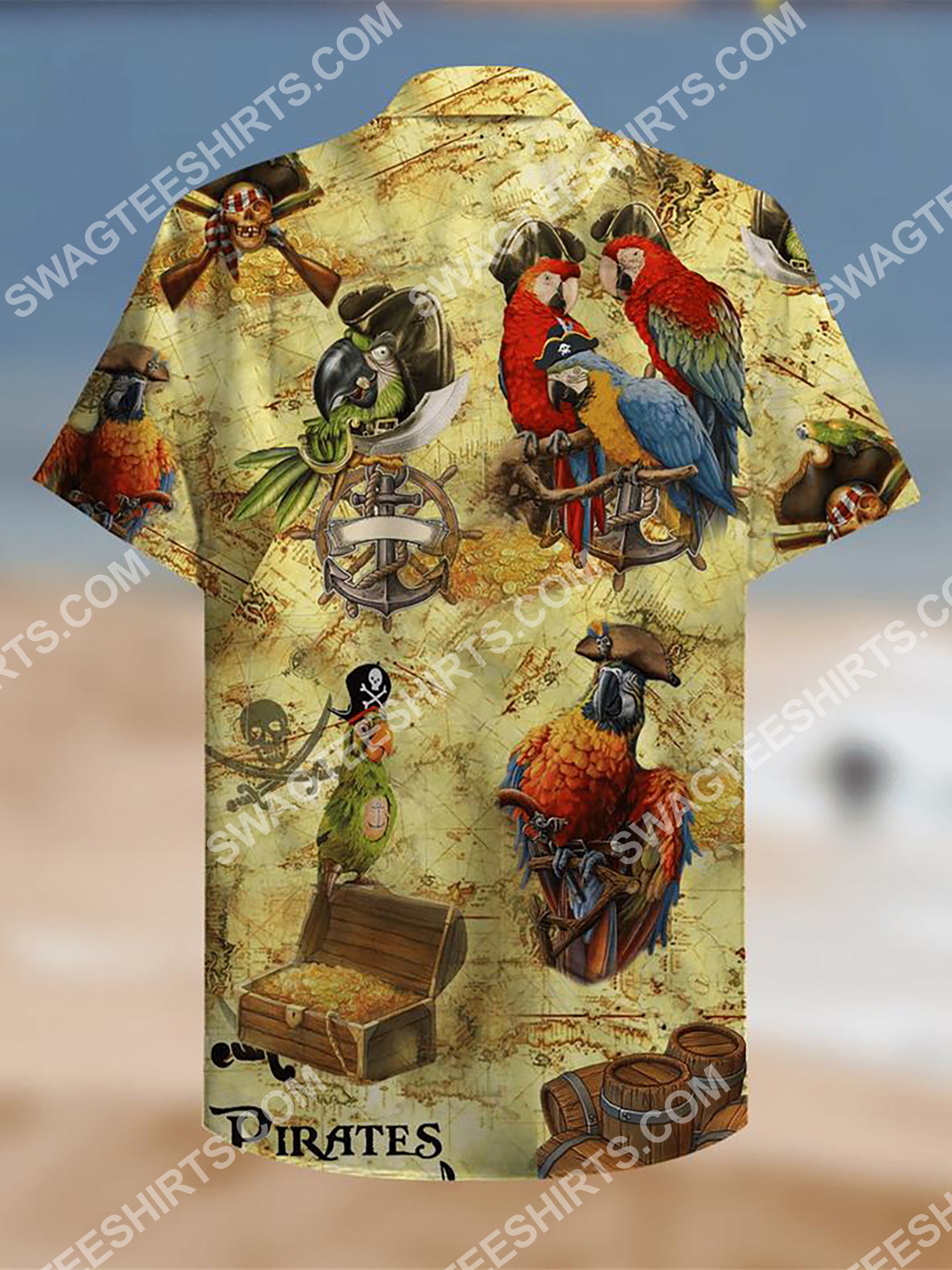 parrot and pirate map all over printing hawaiian shirt 3(1) - Copy