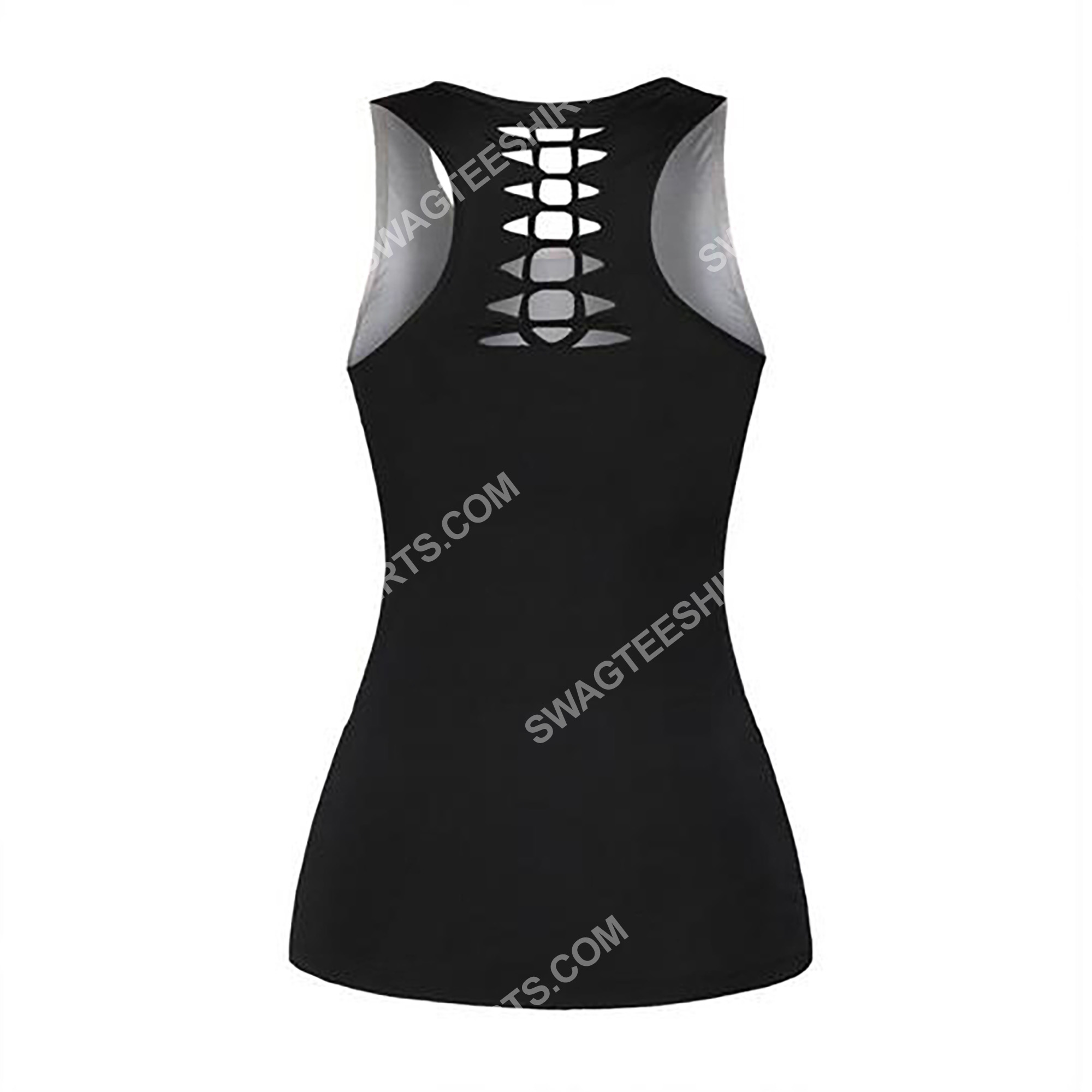skull with glasses sunflower full printing hollow tank top 3(1)