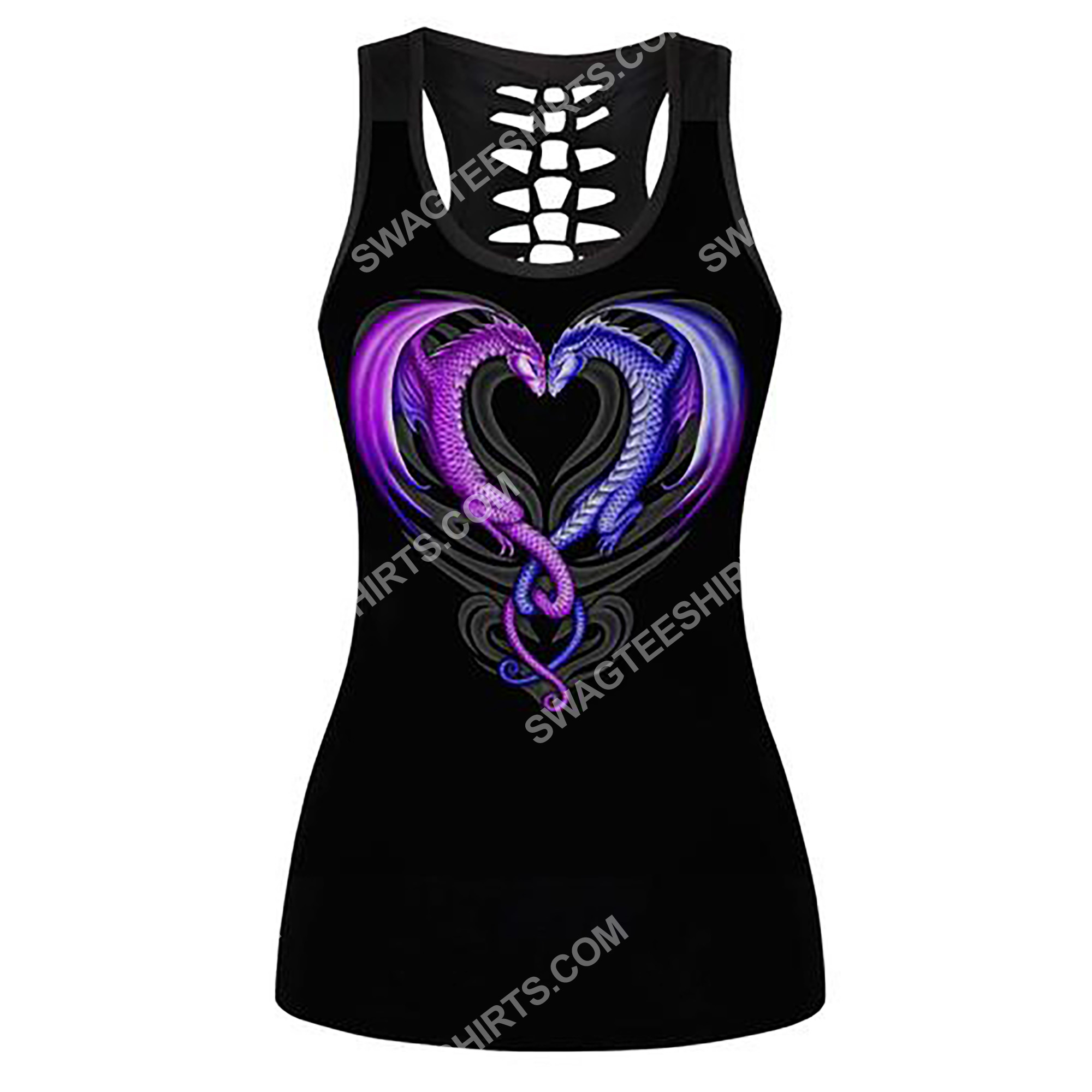 the dragon couple full printing hollow tank top 2(2) - Copy