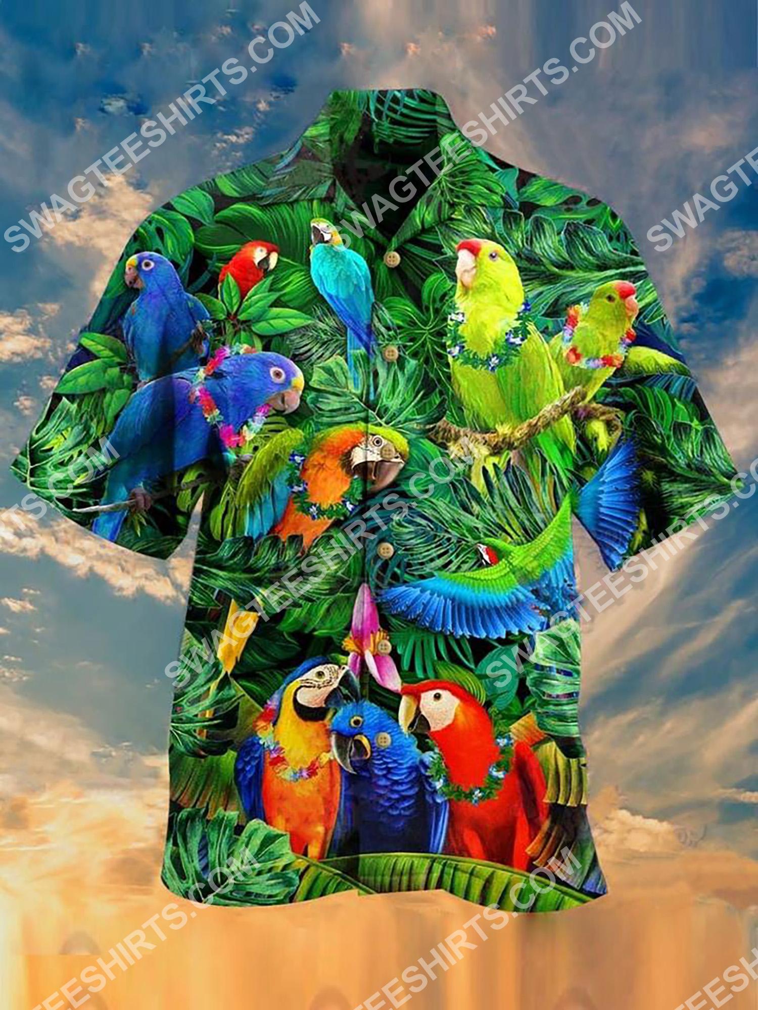 tropical and parrot all over printing hawaiian shirt 2(1)