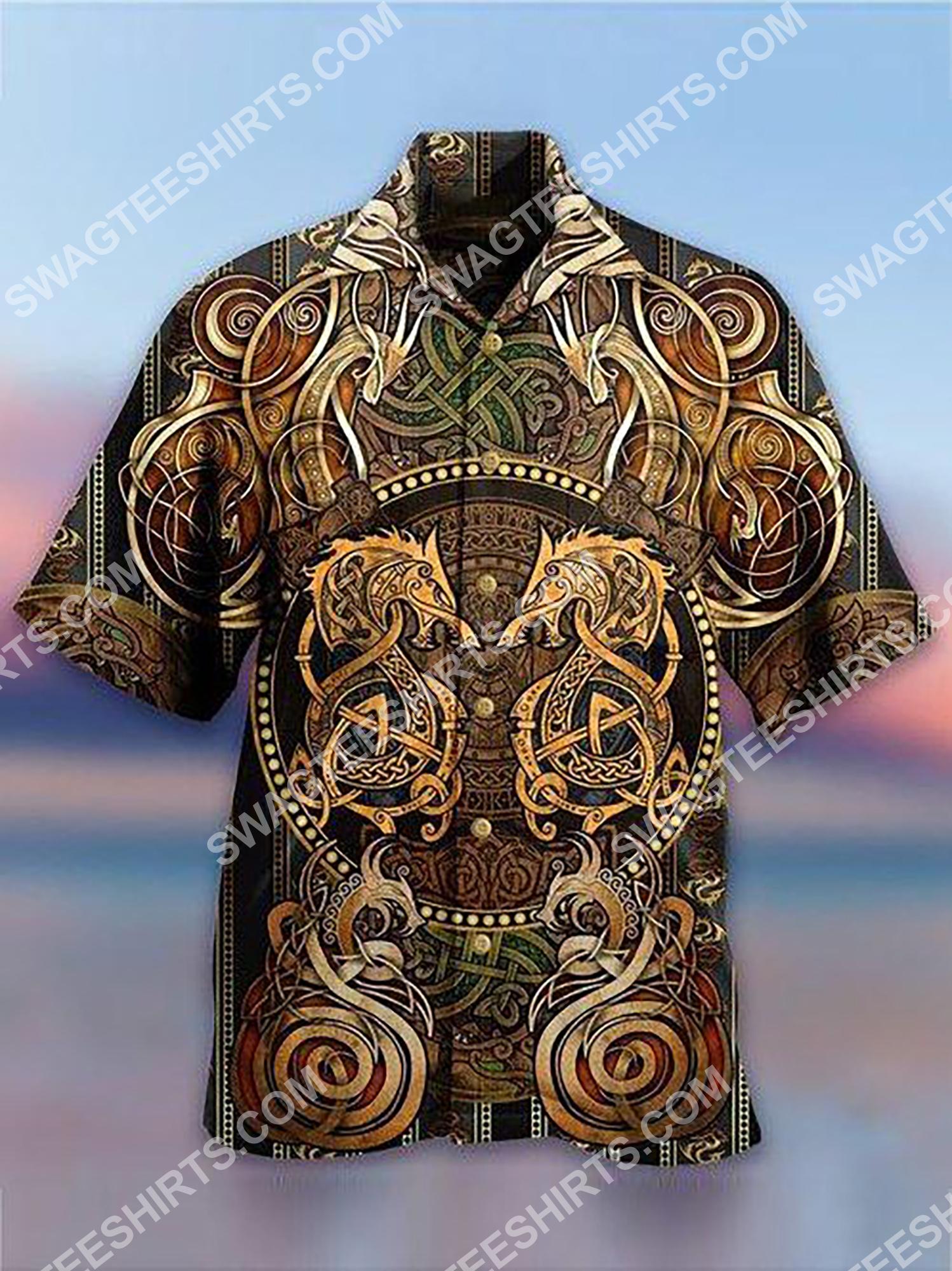 vintage dragon viking all over printing hawaiian shirt 2(1)