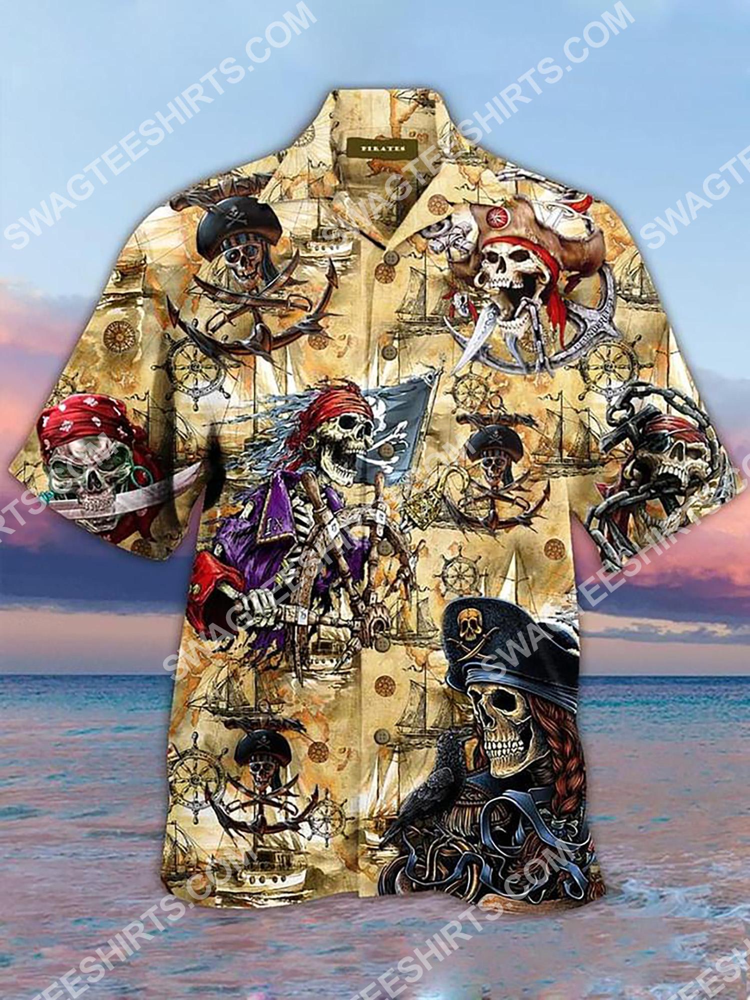 vintage pirates skull all over printing hawaiian shirt 2(1) - Copy