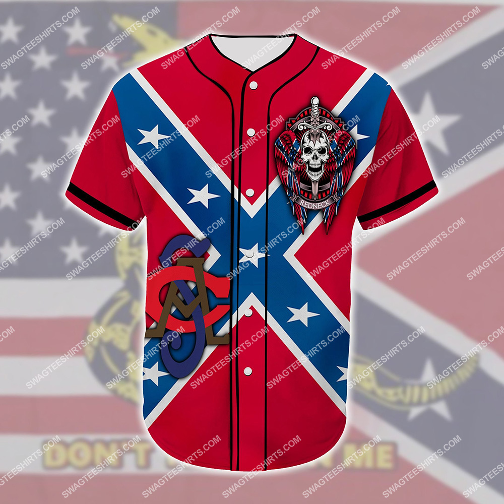 custom name proud descendant of a confederate soldier all over printed baseball shirt 2(1)