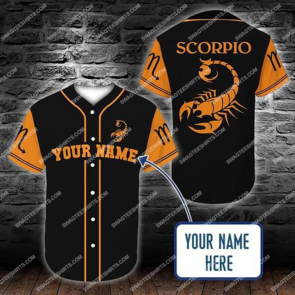 custom name scorpio zodiac birthday gift all over printed baseball shirt 1(1)