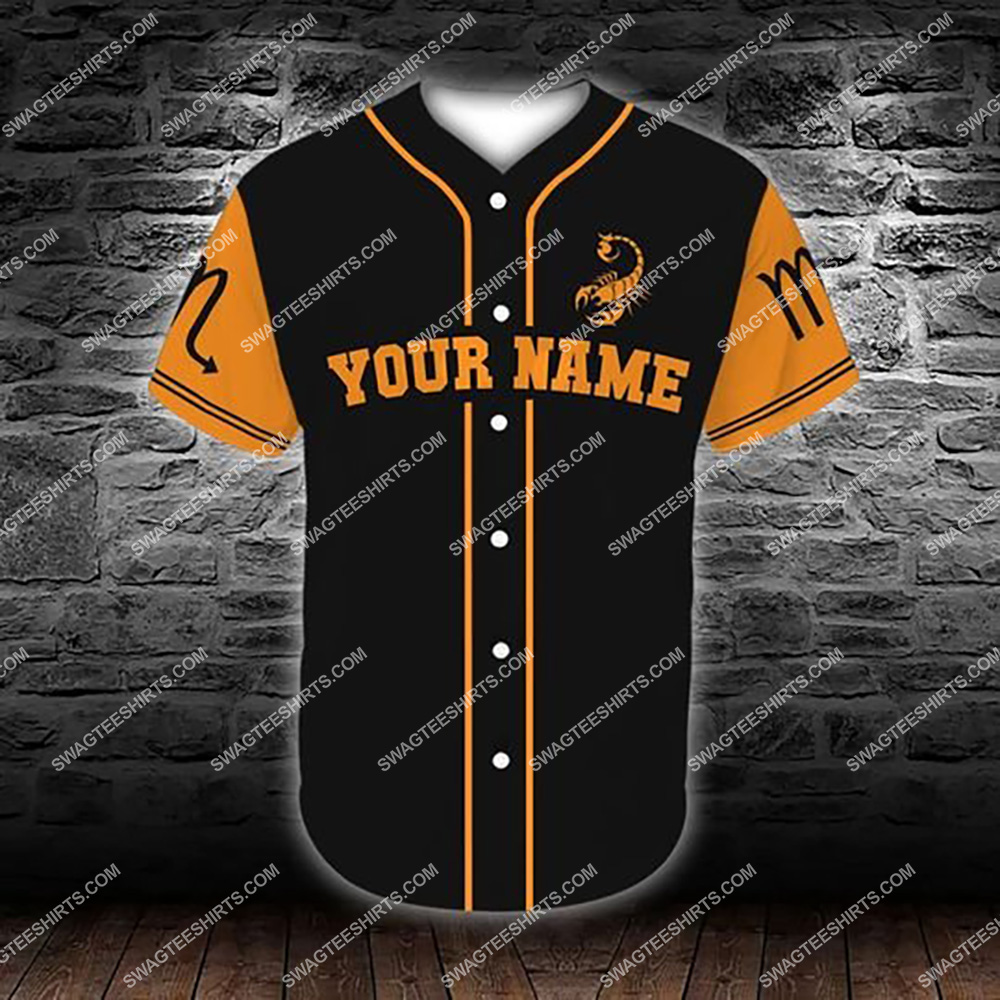 custom name scorpio zodiac birthday gift all over printed baseball shirt 2(1)