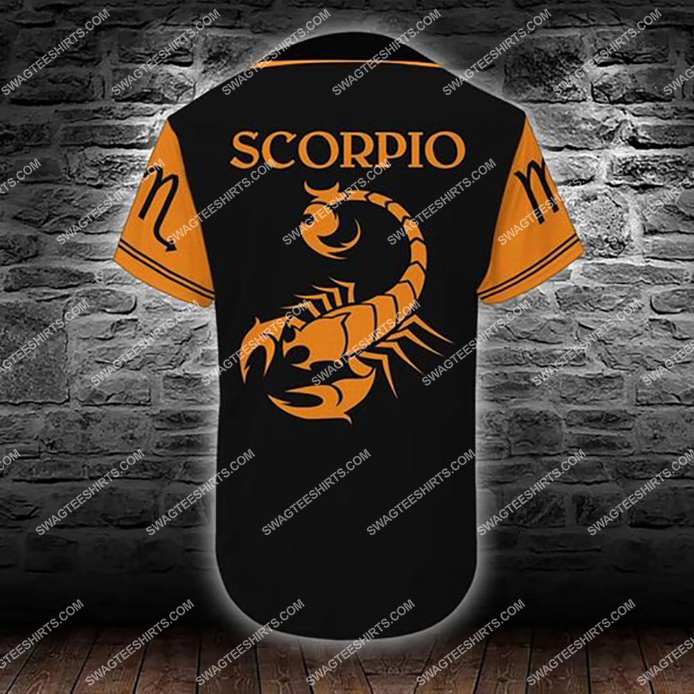 custom name scorpio zodiac birthday gift all over printed baseball shirt 3(1)