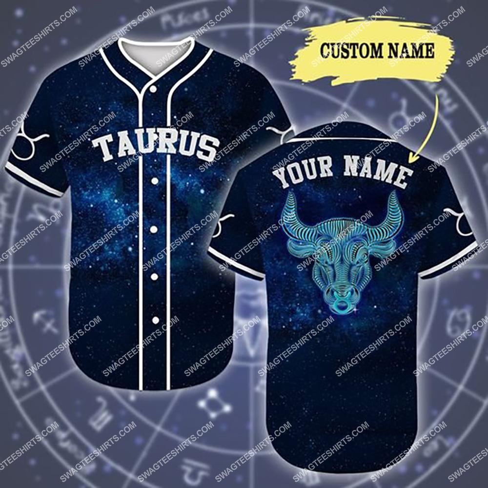 custom name taurus is mysterious zodiac all over printed baseball shirt 1(1) - Copy