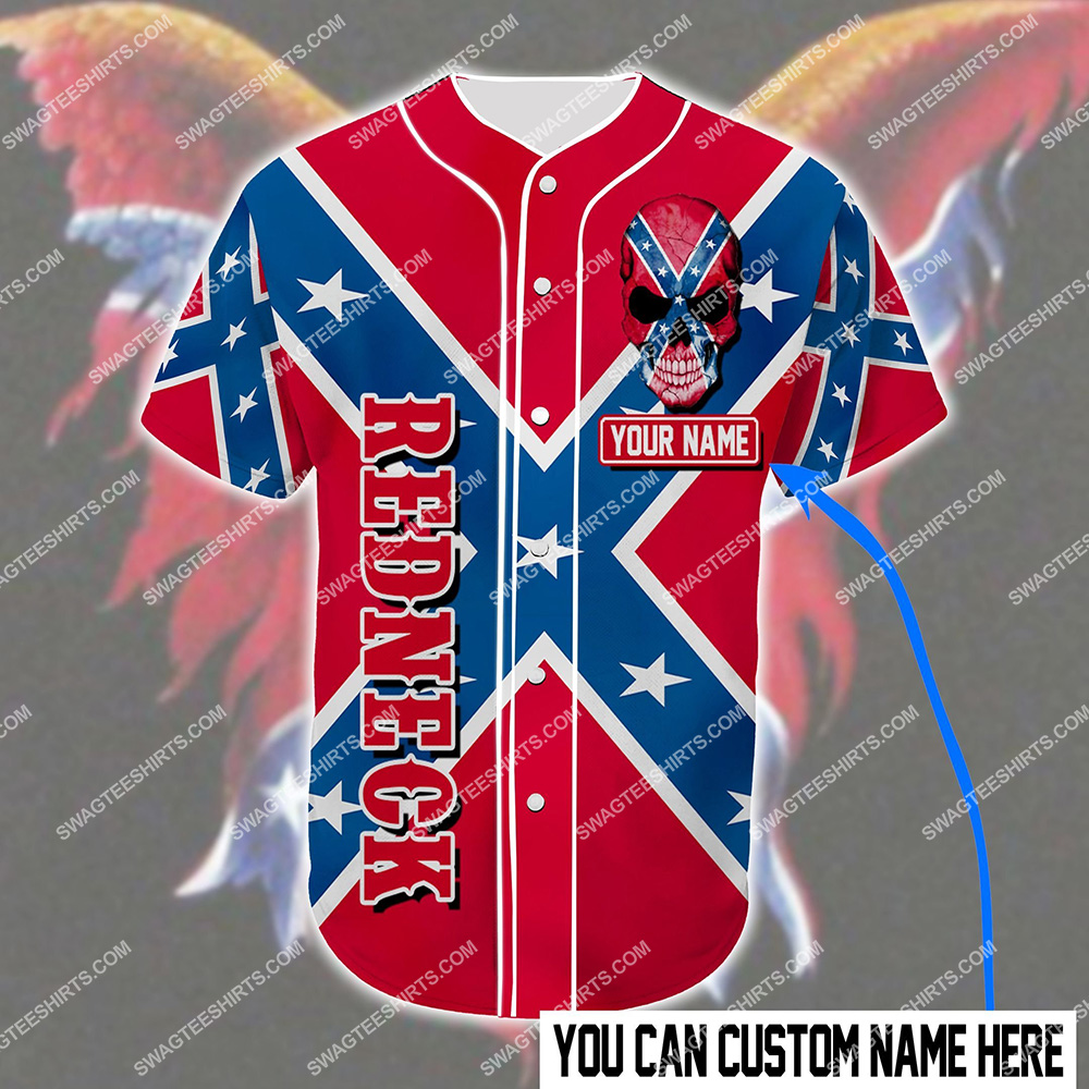 custom name the flags of the confederate heritage not hate all over printed baseball shirt 2(1)