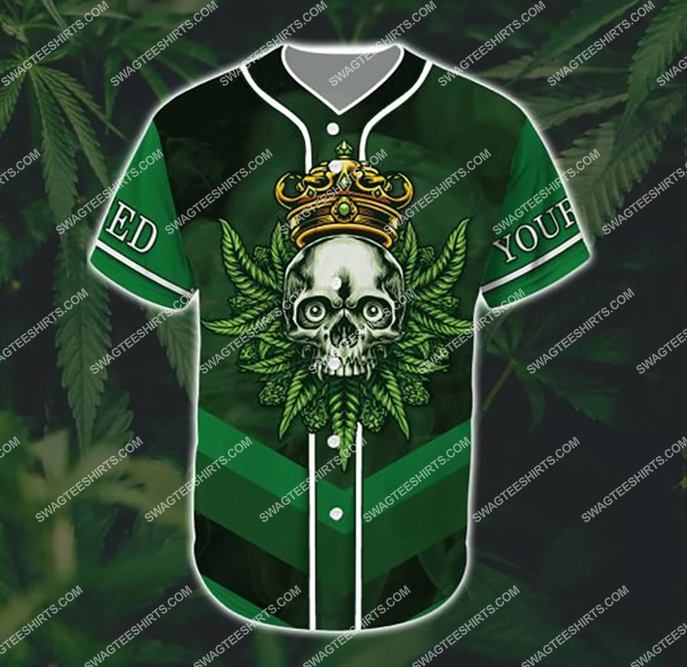 custom name weed leaf stoned i am all over printed baseball shirt 2(1)