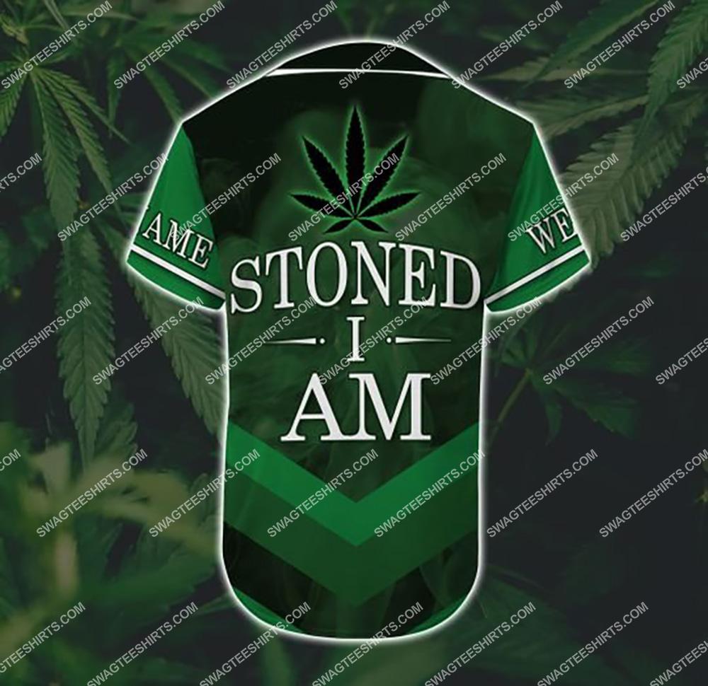 custom name weed leaf stoned i am all over printed baseball shirt 3(1)