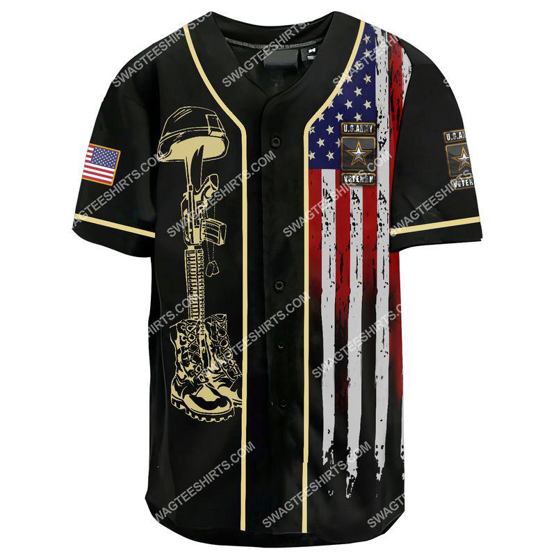 i am a grumpy old army veteran i served i sacrificed i don't regret i am not a hero not a legend baseball shirt 2(1)