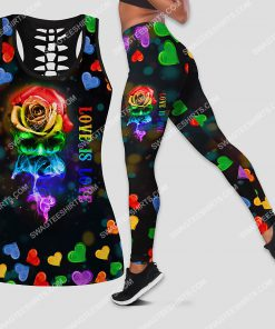 lgbt love is love all over printed leggings set 1