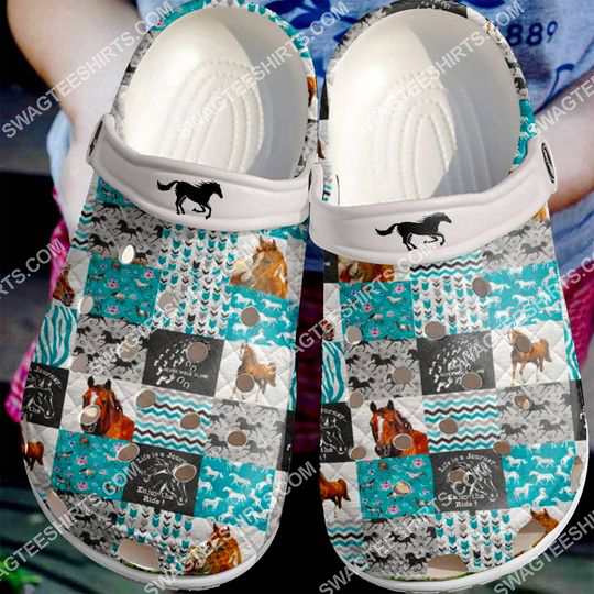 love horse lover all over printed crocs 2