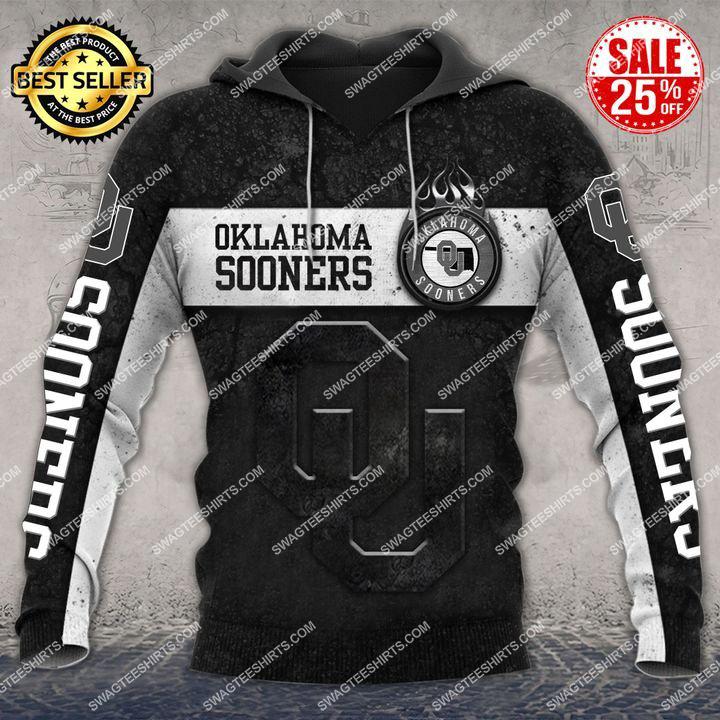 oklahoma sooners football team all over printed hoodie 1