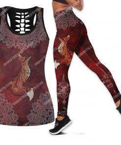 red fox mandala all over printed leggings set 1