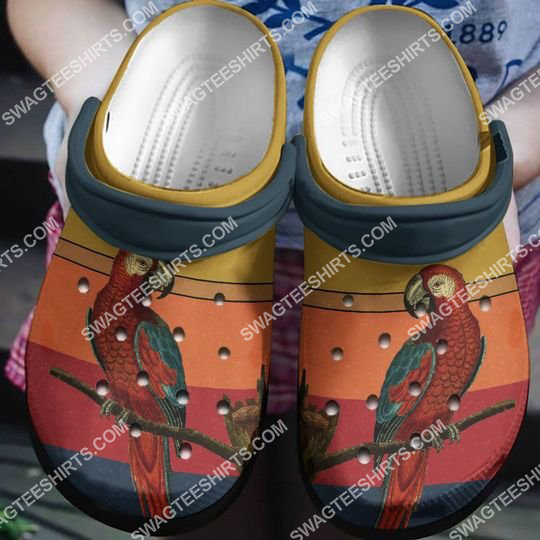 retro parrot lover all over printed crocs 2 - Copy (2)
