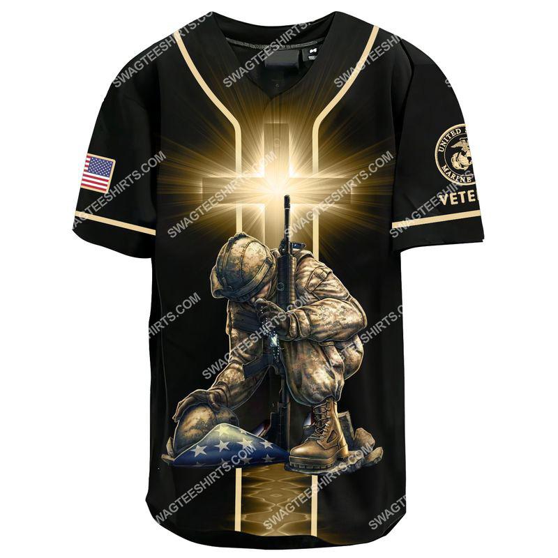 stand for the flag kneel for the Cross marines veteran baseball shirt 2(1)