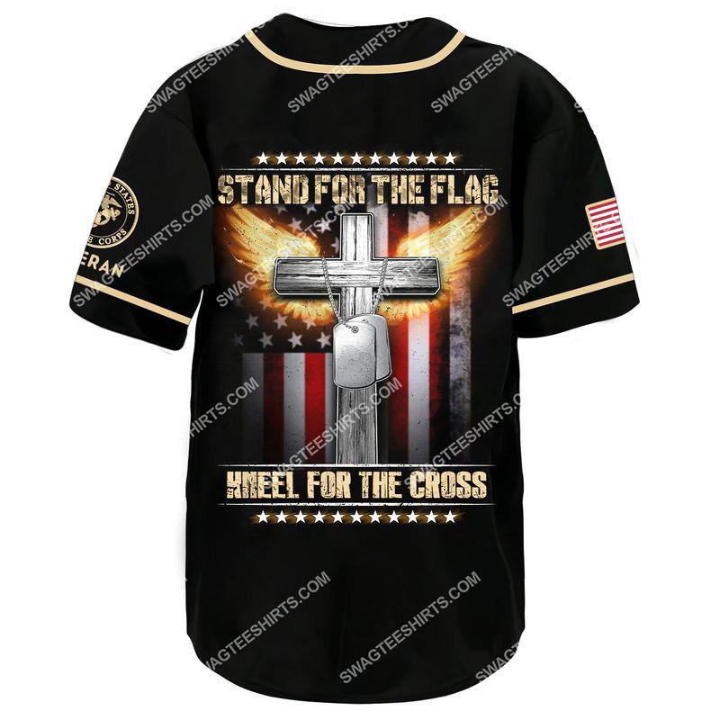stand for the flag kneel for the Cross marines veteran baseball shirt 3(1)