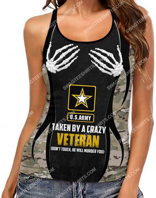 taken by a crazy veteran don't touch strappy back tank top 2(1) - Copy