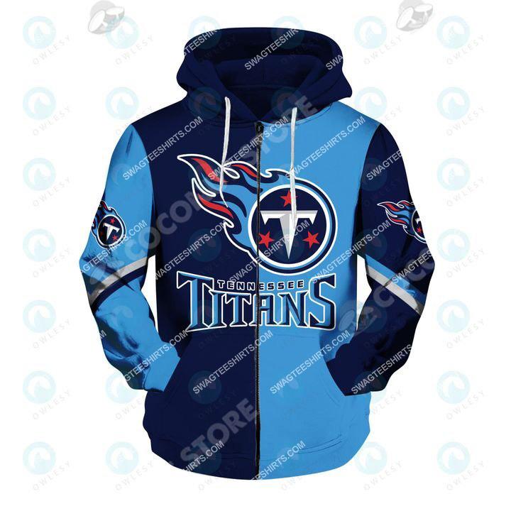 tennessee titans american football team all over printed zip hoodie 1