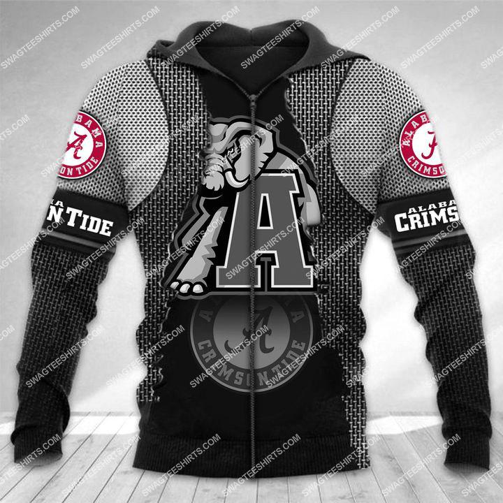 the alabama crimson tide football all over printed zip hoodie 1