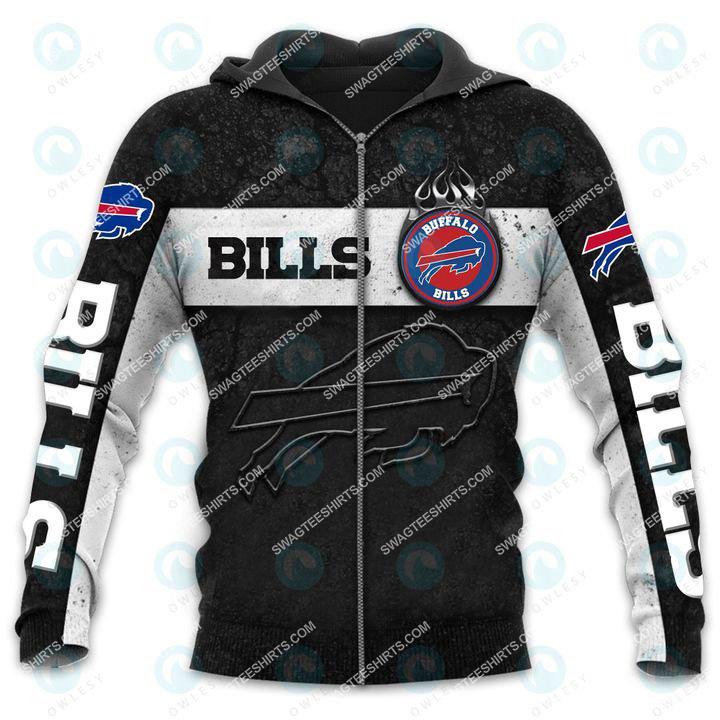 the buffalo bills football team all over printed zip hoodie 1