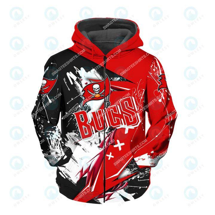 the football team tampa bay buccaneers all over printed zip hoodie 1