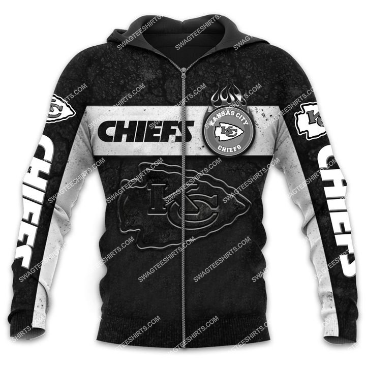 the kansas city chiefs football all over printed zip hoodie 1