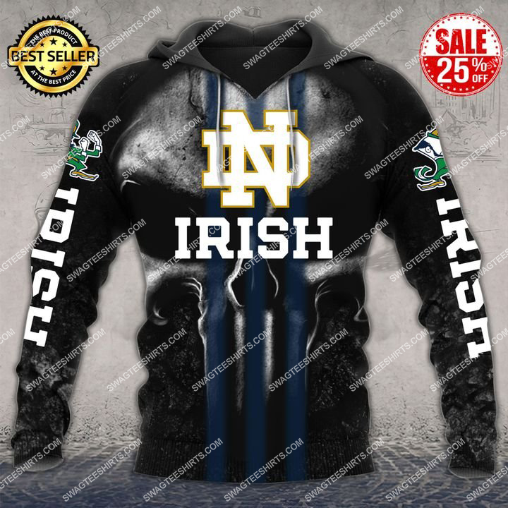 the notre dame fighting irish football all over printed hoodie 1