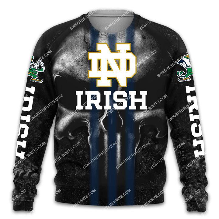 the notre dame fighting irish football all over printed sweatshirt 1