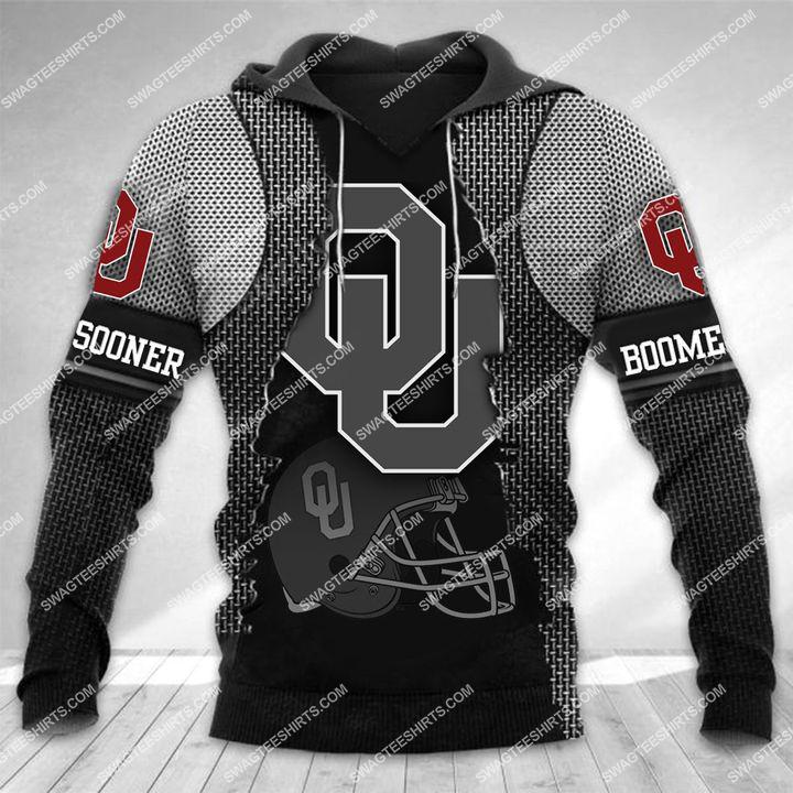 the oklahoma sooners football all over printed hoodie 1