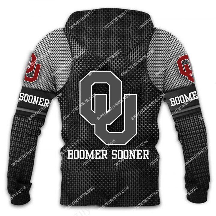 the oklahoma sooners football all over printed shirt - back 1