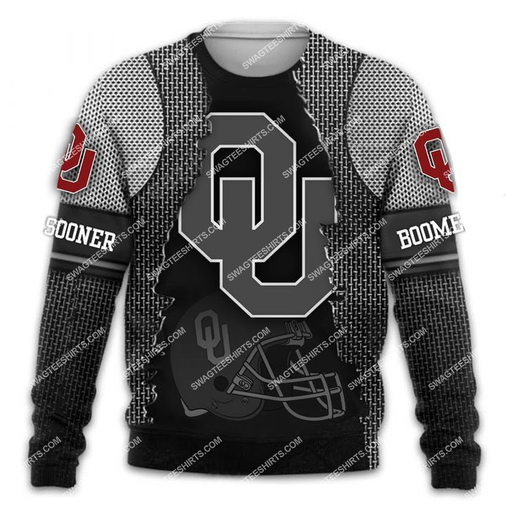 the oklahoma sooners football all over printed sweatshirt 1