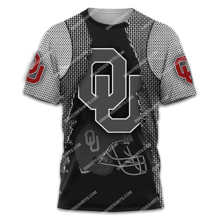 the oklahoma sooners football all over printed tshirt 1
