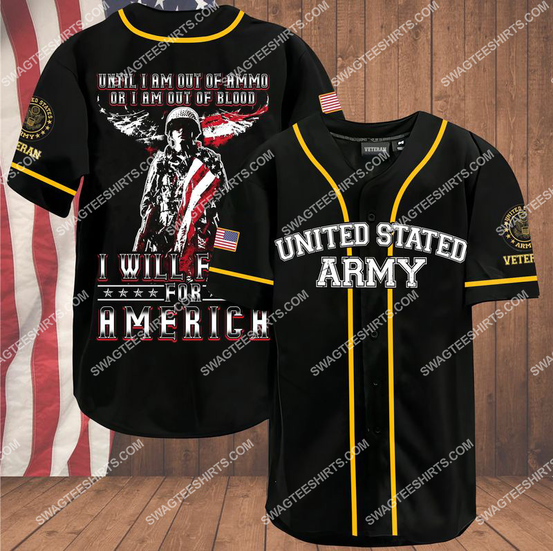 veteran until i am out of ammo or i am out of blood i will fight for america independence day baseball shirt 1(1) - Copy