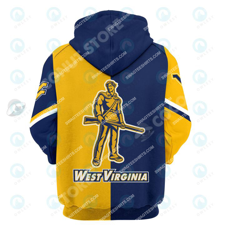 west virginia mountaineers football all over printed shirt - back 1
