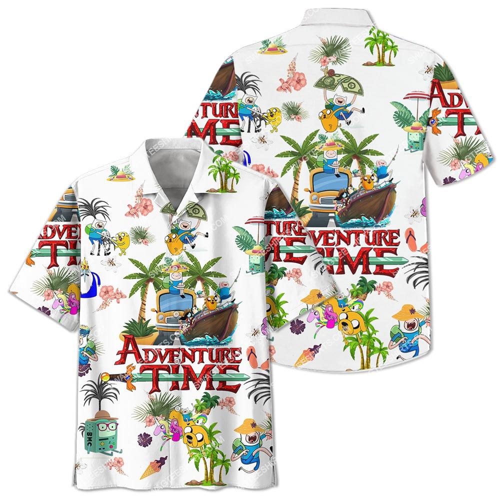 adventure time on the beach summer full printing hawaiian shirt 2(1)
