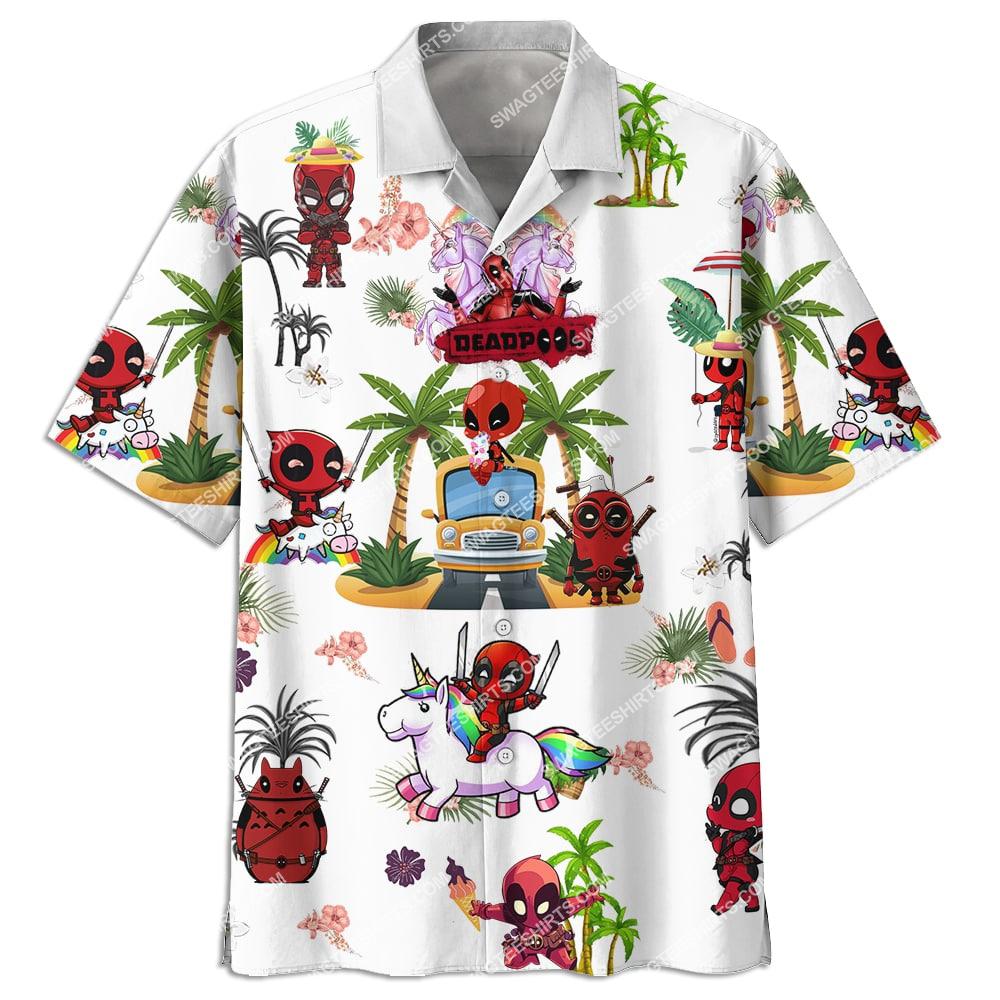 deadpool on the beach summer full printing hawaiian shirt 3(1)
