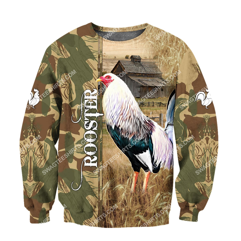 farm life rooster chicken full printing sweatshirt 1
