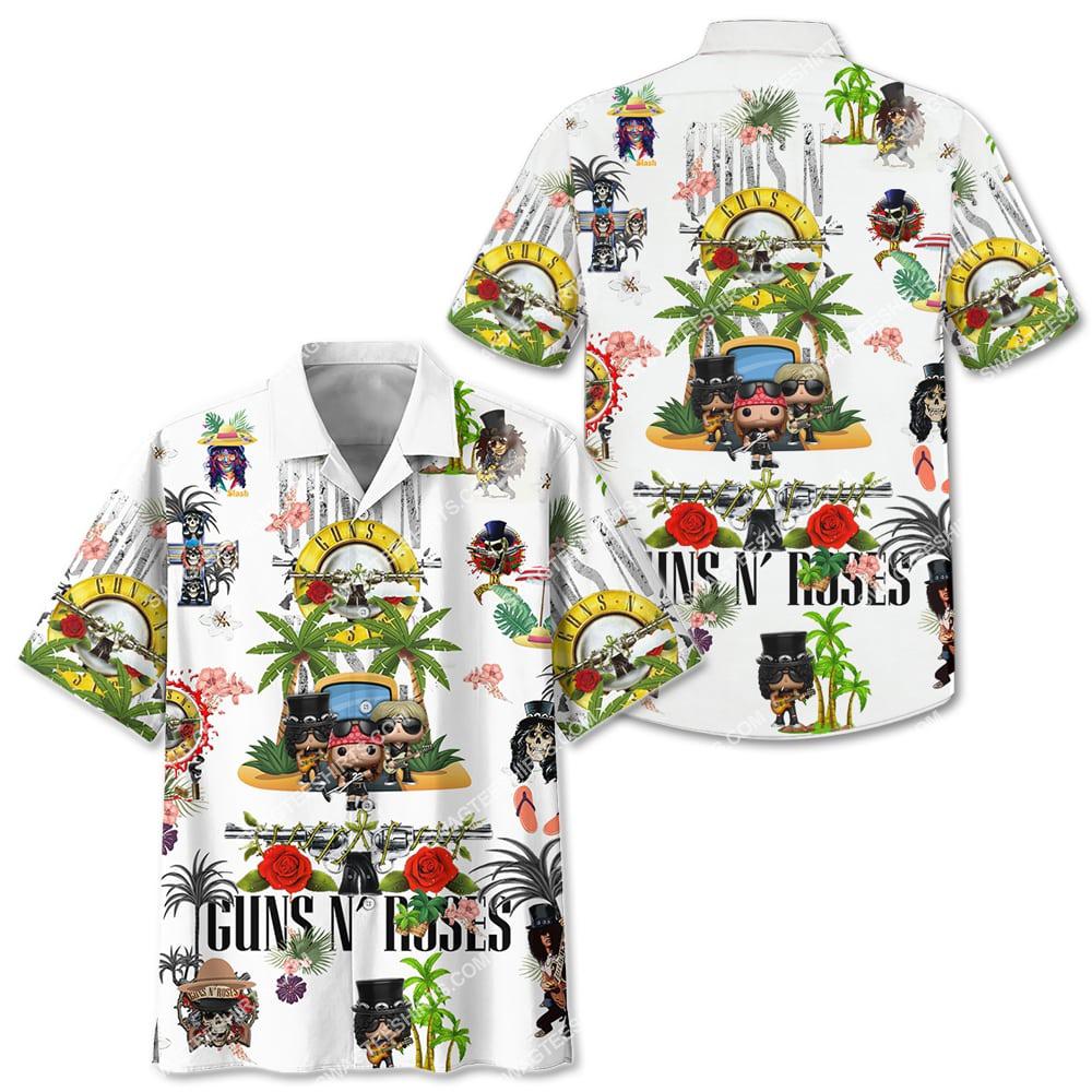 guns n' roses band full printing hawaiian shirt 2(1)