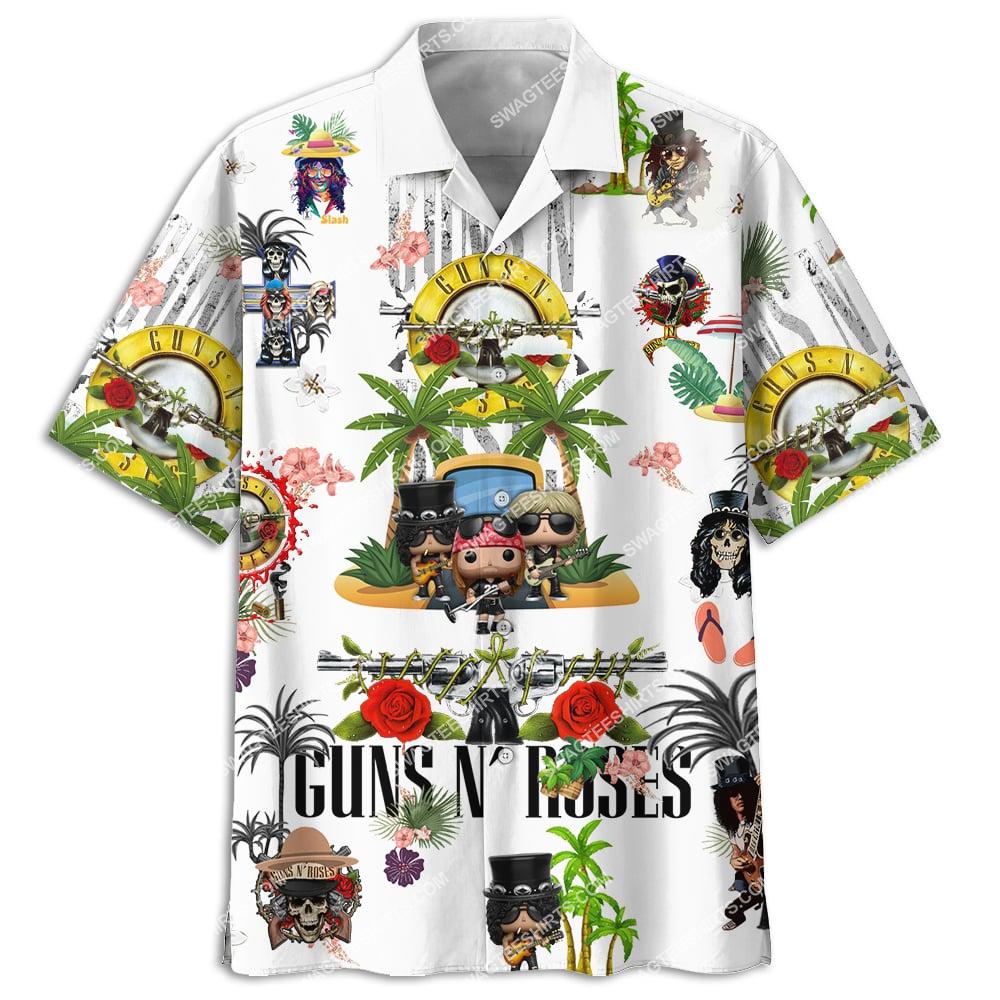 guns n' roses band full printing hawaiian shirt 3(1)