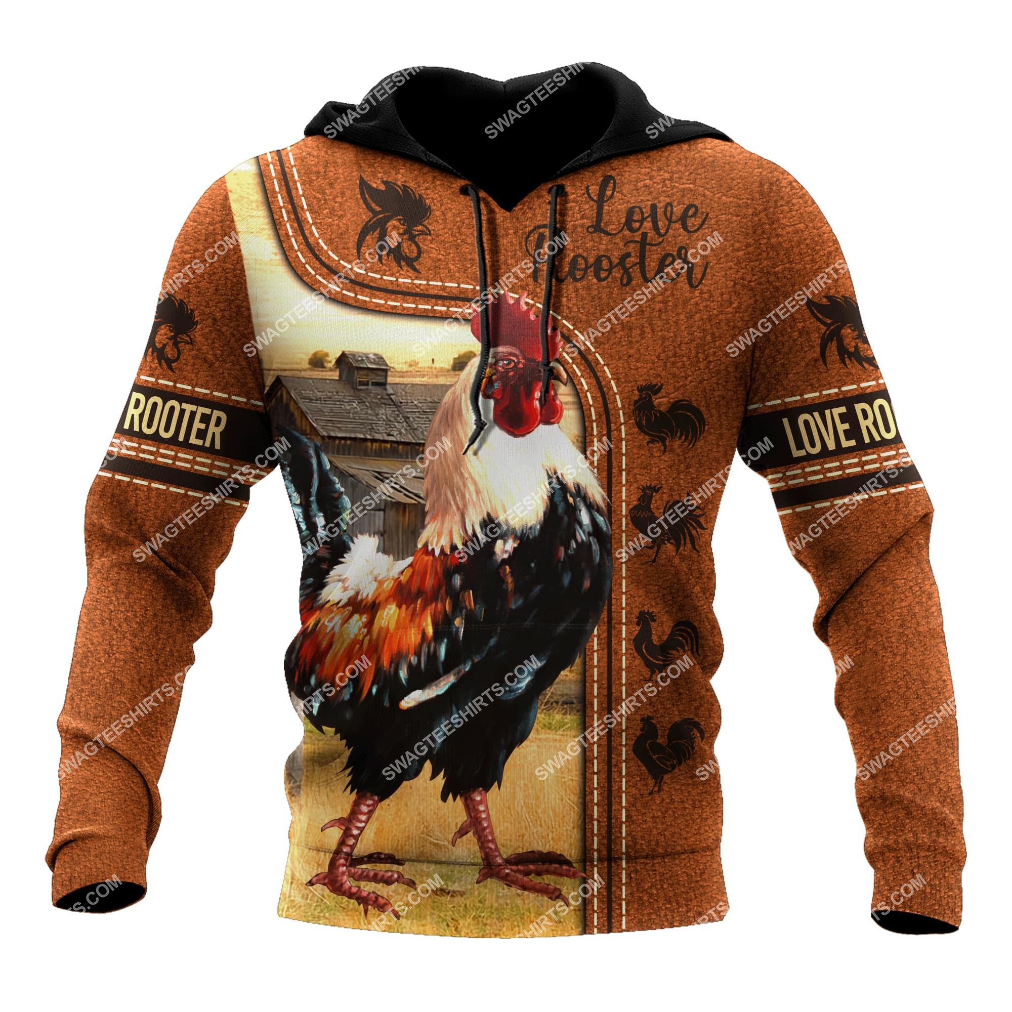 love rooster chicken full printing hoodie 1