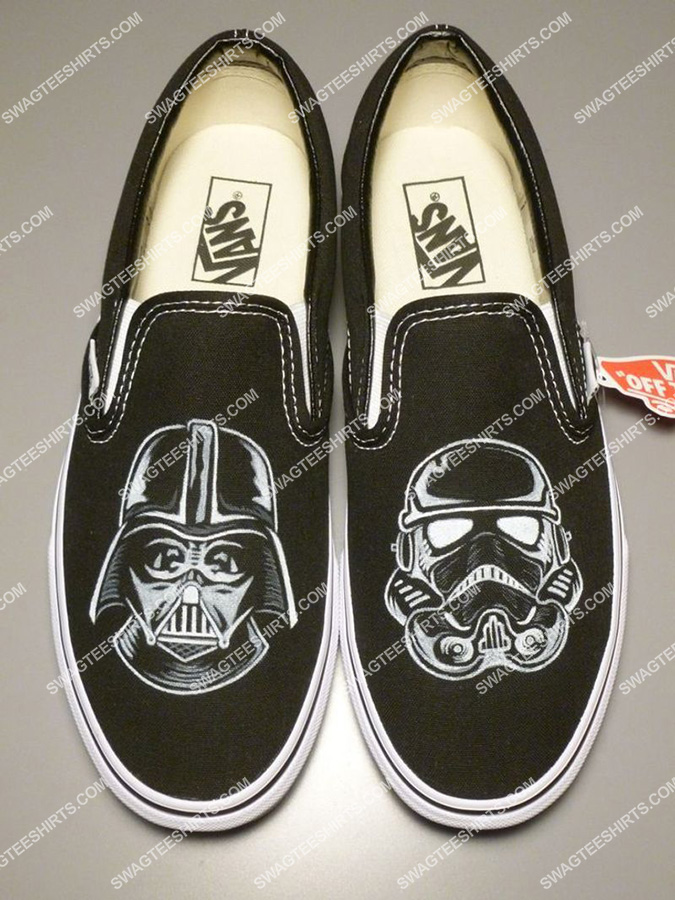star wars darth vader and stormtroopers all over print slip on shoes 2(1) - Copy