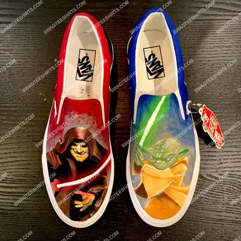 star wars yoda all over print slip on shoes 2(1) - Copy
