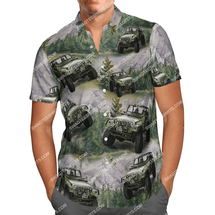 the jeep forest all over printed hawaiian shirt 3(1)