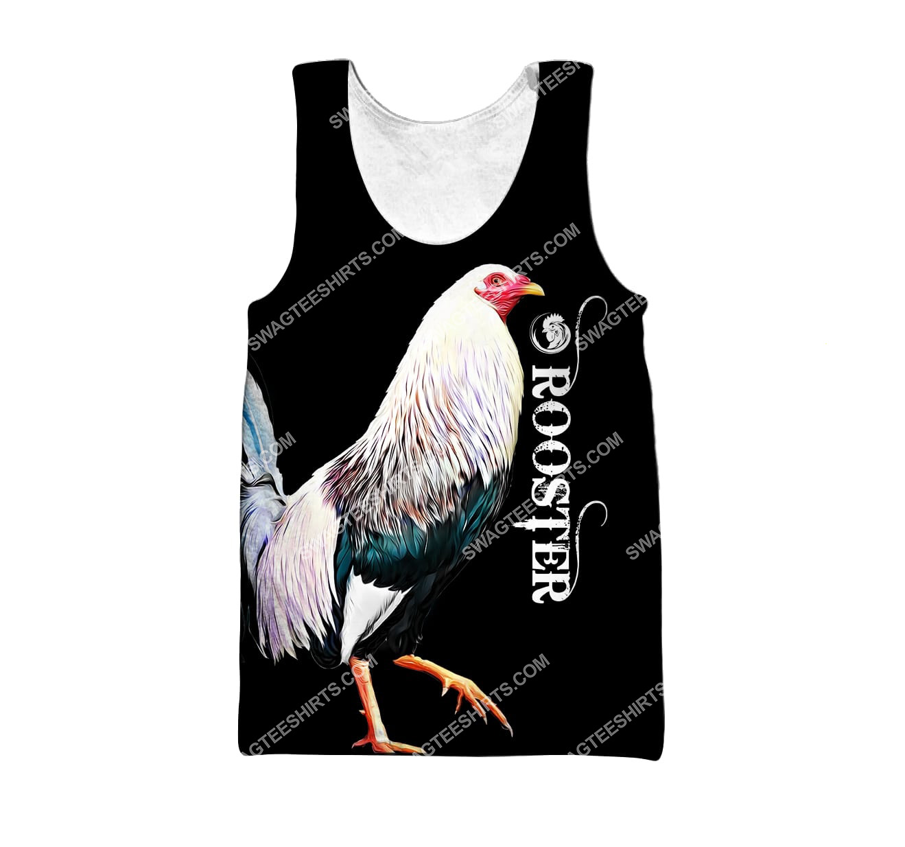 the rooster chicken all over printed tank top 1