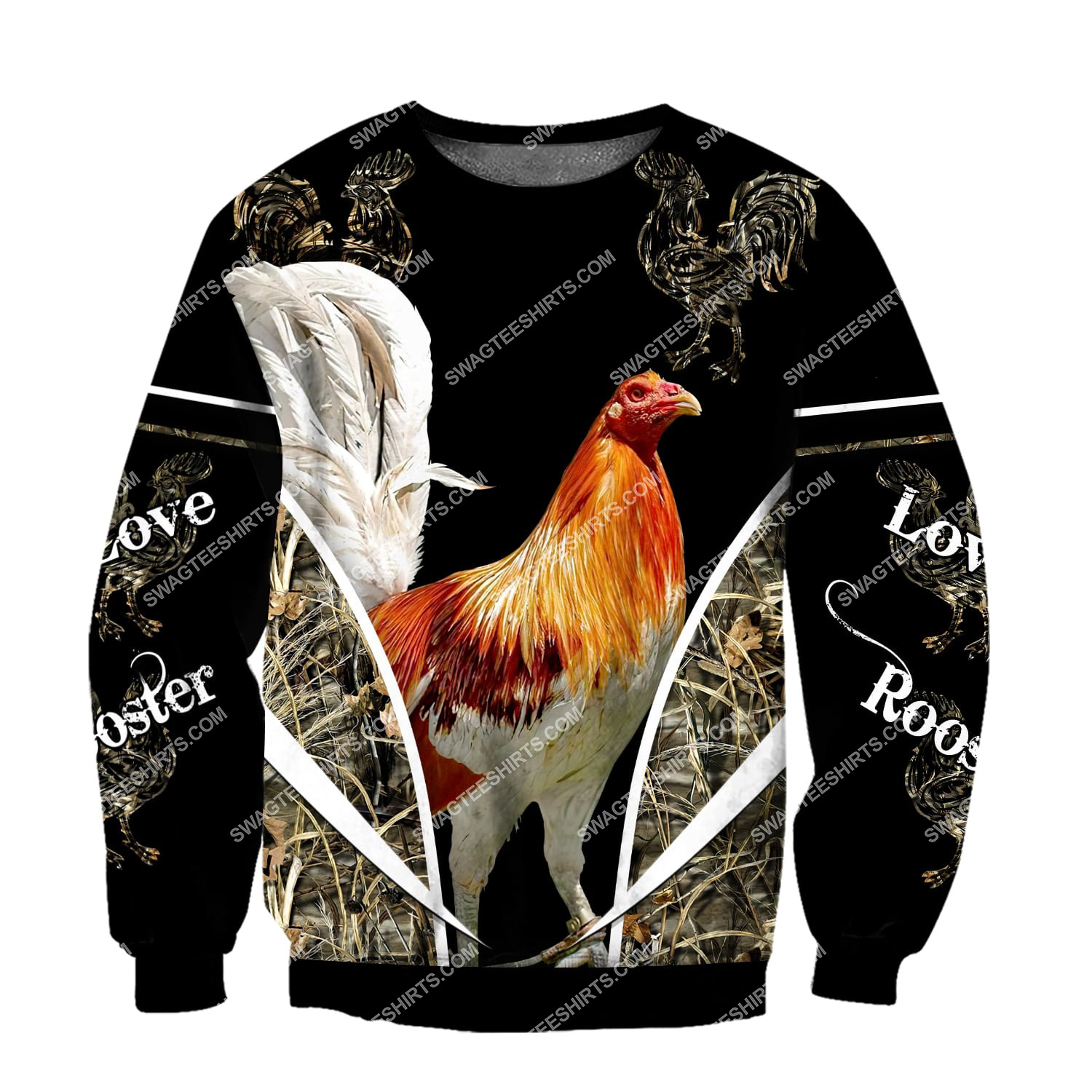 the rooster chicken forest full printing sweatshirt 1
