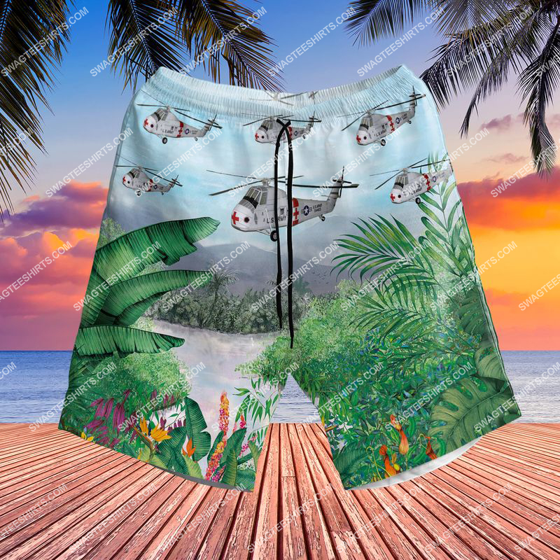 us army sikorsky medevac ch-34c choctaw all over printed beach shorts(1)