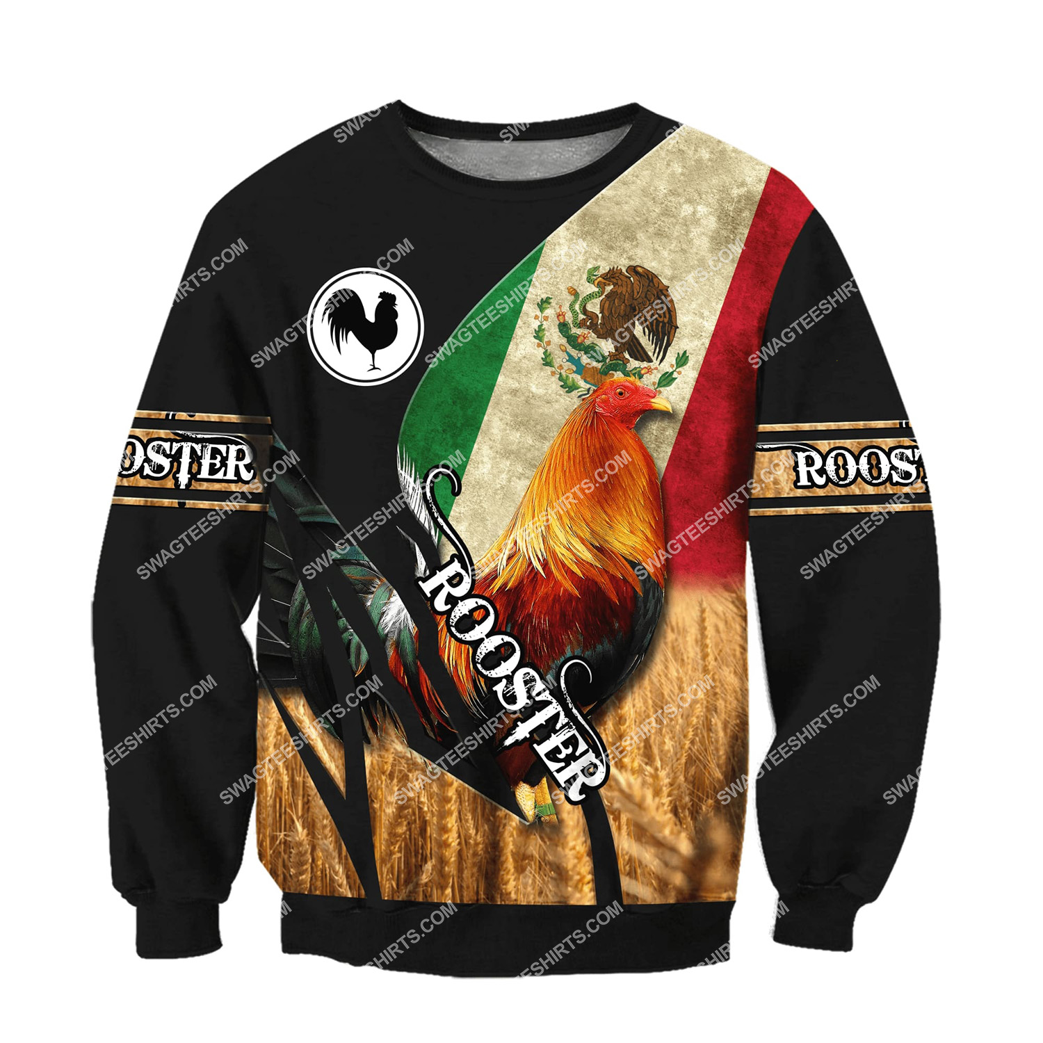 vintage the rooster and mexican flag full printing sweatshirt 1